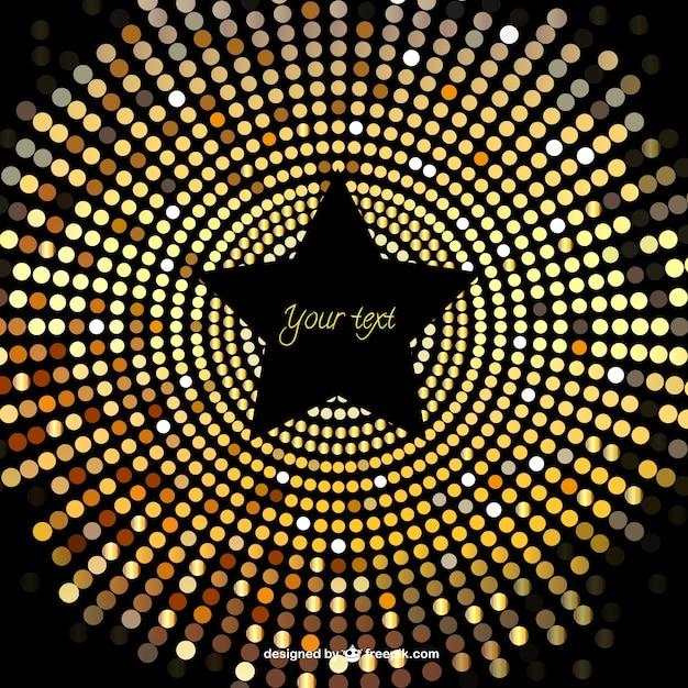 Schwarze Tapete Gl?nzend : Black and Gold Star Background