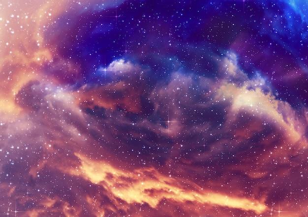 Sternenhimmel nebelwolken Premium Fotos