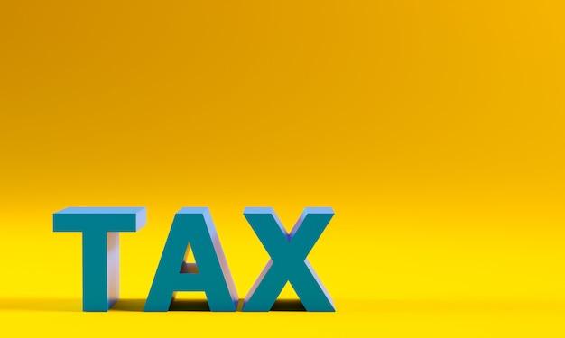 Steuern text auf gelb. Premium Fotos