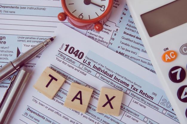 Steuern und formulare Premium Fotos