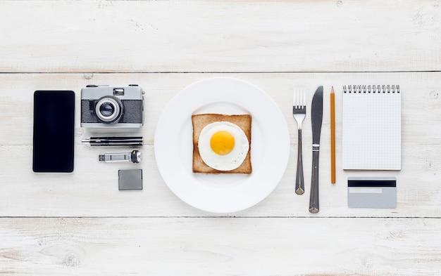 Stilles frühstück perfektionist hipster Premium Fotos