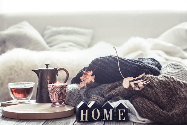 Stillleben herbststimmung in der häuslichen atmosphäre. Kostenlose Fotos