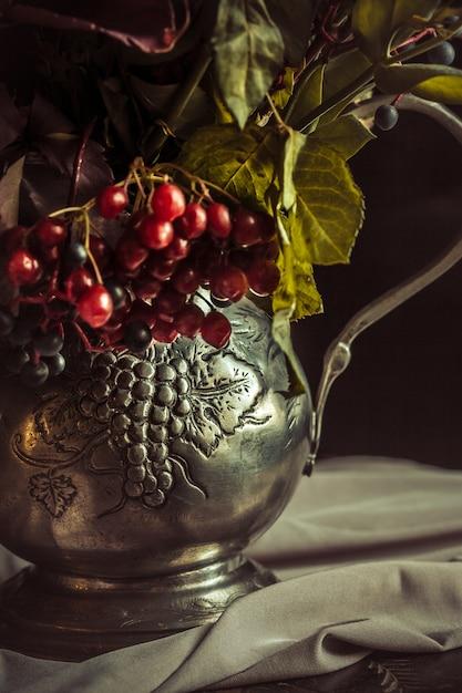 Stillleben mit herbstblumen Kostenlose Fotos
