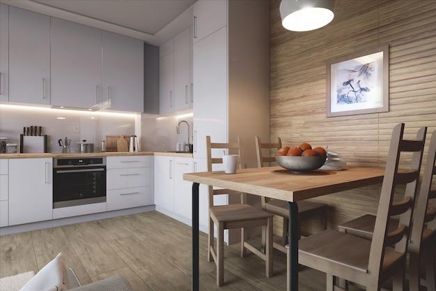 Stilvolle küche Premium Fotos