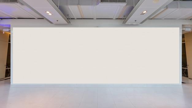 Stoff pop up-basiseinheit werbebanner media-display-hintergrund, leerer hintergrund Premium Fotos