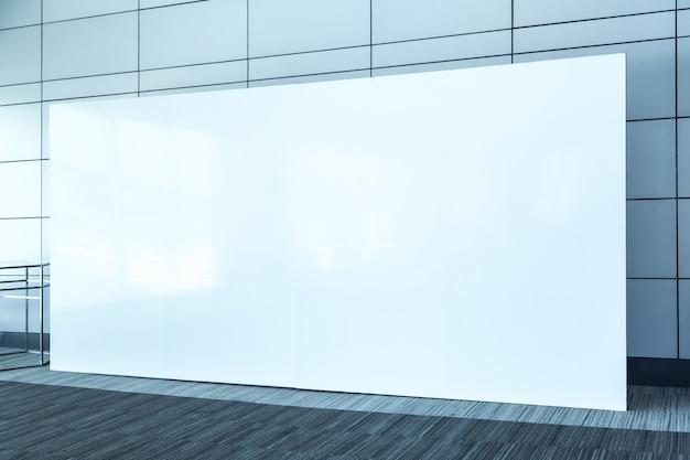 Stoff pop up grundeinheit werbebanner medien display hintergrund, leeren hintergrund Premium Fotos