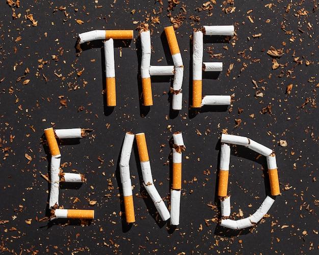 Stoppen sie die nachricht von zigaretten Kostenlose Fotos