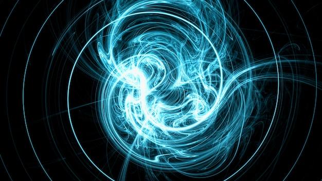 Strahlend blaues elektromagnetisches feld Premium Fotos