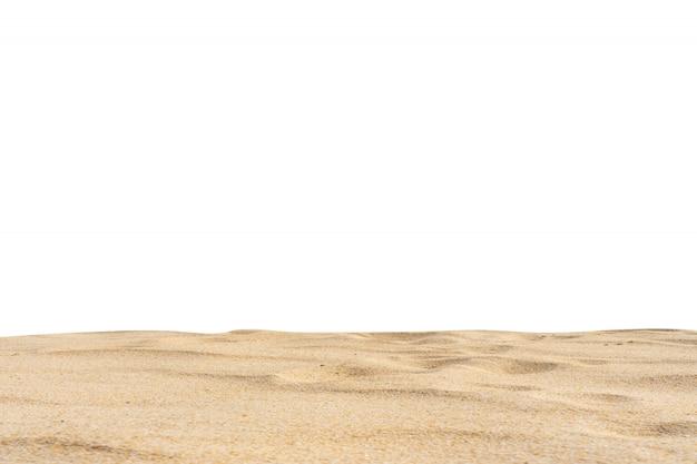Strand sand textur di-cut weißen hintergrund. Premium Fotos
