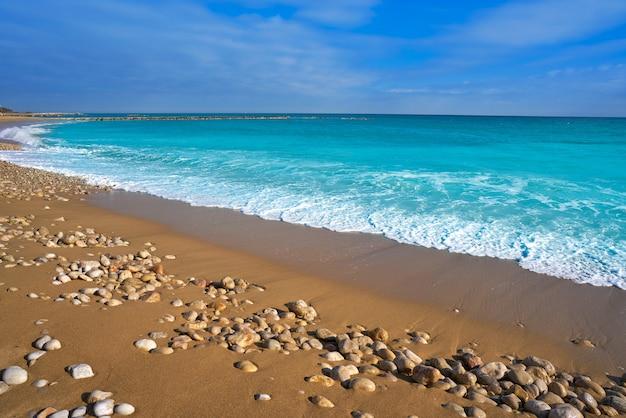 Strand von vinaroz playa del forti in castellon Premium Fotos