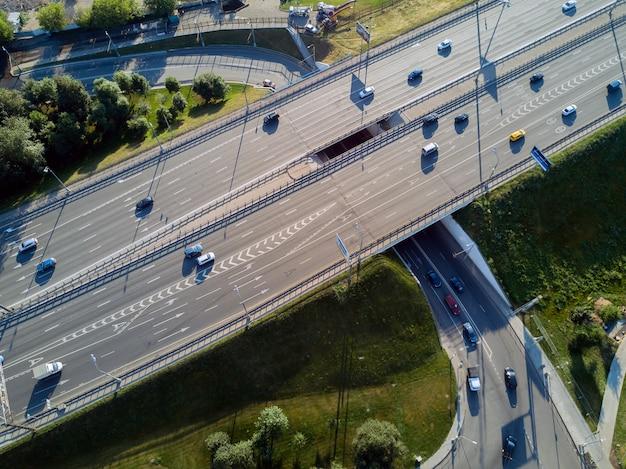 Straßenkreuzung draufsicht Premium Fotos
