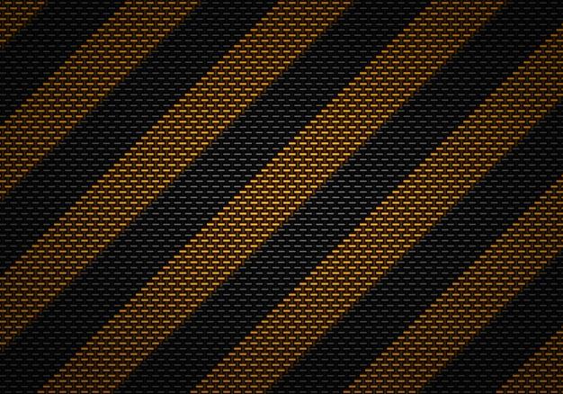 Strukturiertes materielles design des abstrakten schwarzen kohlenstoffs mit warnendem band Premium Fotos