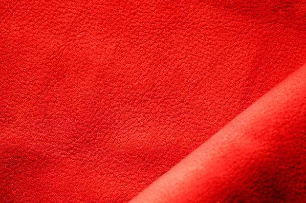 Strukturiertes rotes leder aus extremer nahaufnahme Kostenlose Fotos