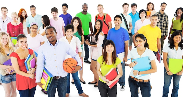 Studenten-college highschool-leute-jugend-kultur-konzept Kostenlose Fotos