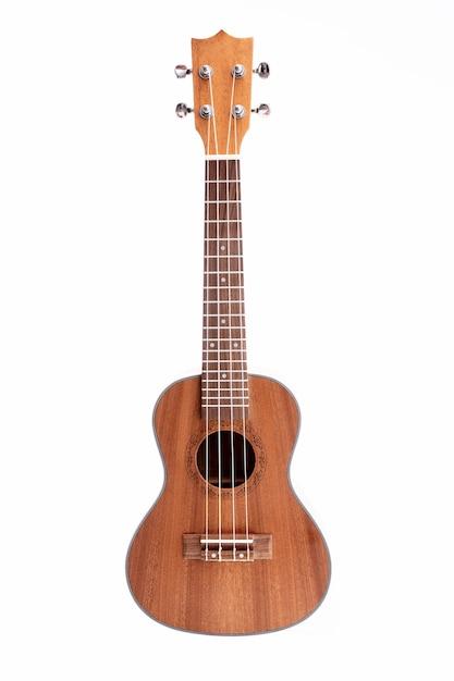 Studioaufnahme der ukulelengitarre Premium Fotos