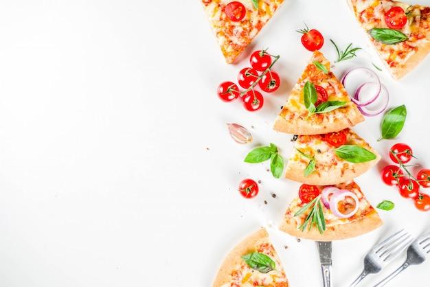 Stücke käsepizza margarita Premium Fotos