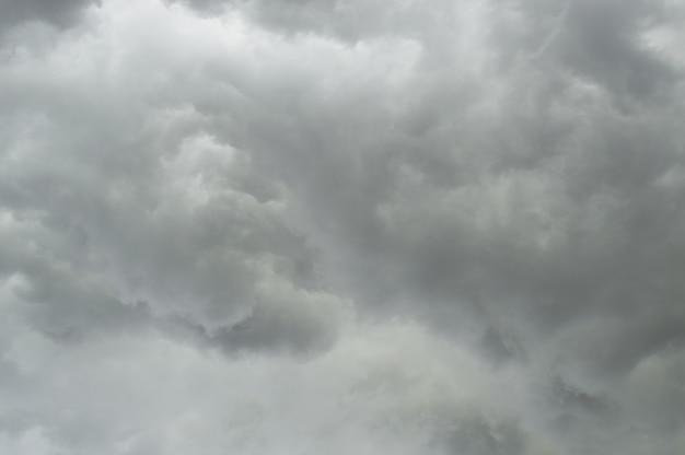 Sturm. dunkler himmel mit schwarzen wolken für hintergrund. absichtlich verschwommen Premium Fotos