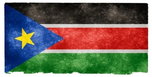 Südsudan grunge flag Kostenlose Fotos