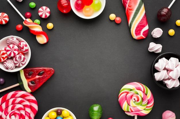 Süßigkeiten leckeren rahmen mit textfreiraum Kostenlose Fotos