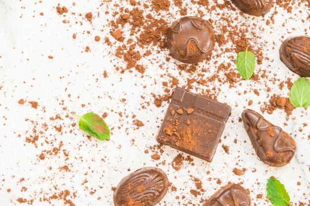 Süßspeise mit dunkler schokolade Kostenlose Fotos