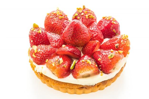 Süßspeise mit erdbeere oben auf torte Kostenlose Fotos