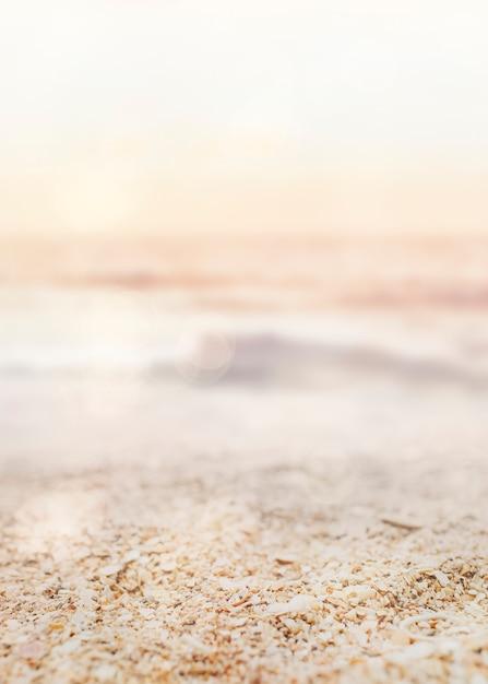 Sunset beach produkthintergrund Kostenlose Fotos