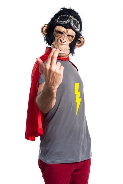 Superheld affen mann kommende geste Kostenlose Fotos