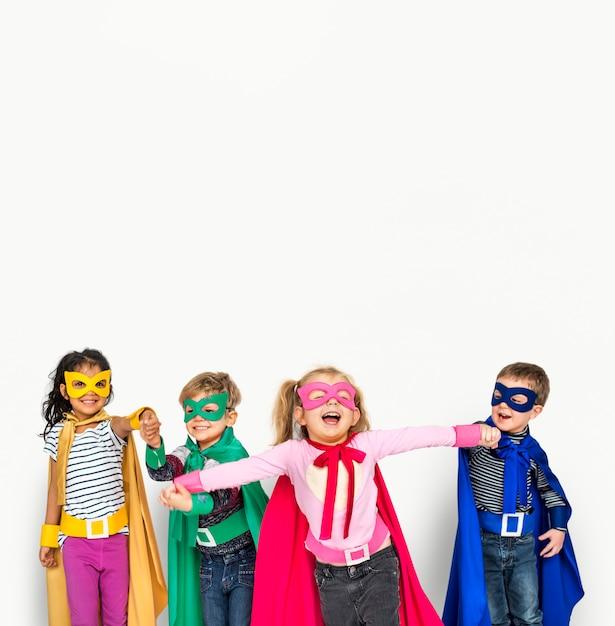 Superhelden-kinder Premium Fotos