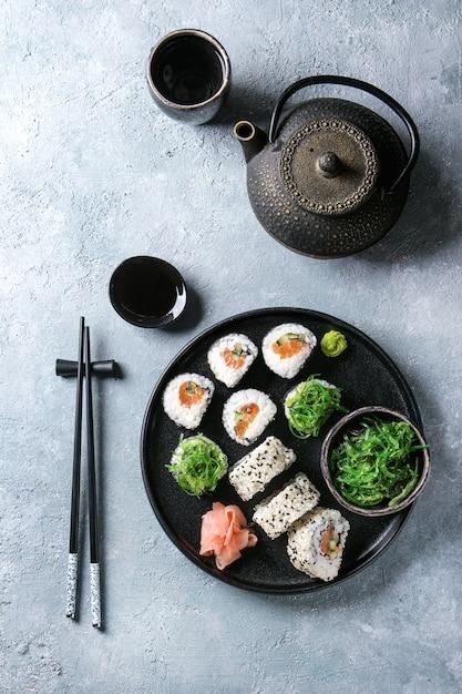 Sushi-rollen eingestellt Premium Fotos