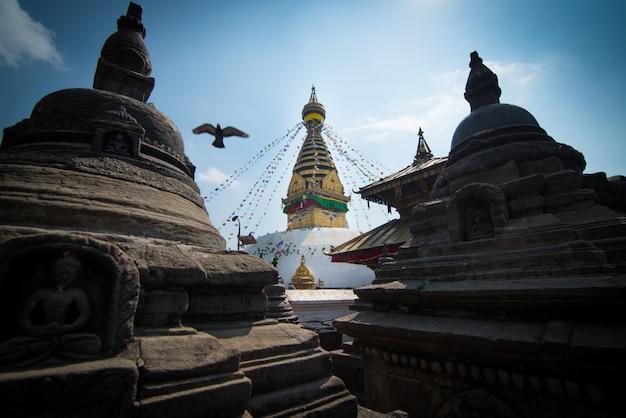 Swayambhunath- oder affetempel, kathmandu, nepal. Premium Fotos