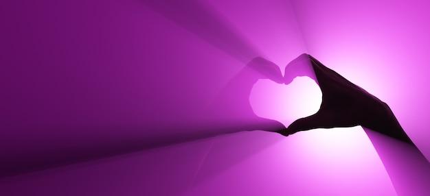 Symbol für liebe und respekt. handgeste. Premium Fotos