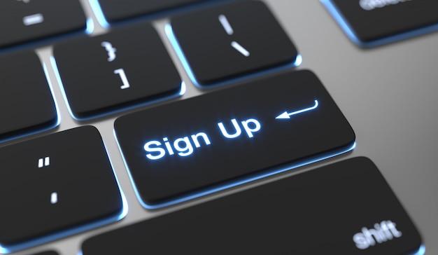 Symbol für text auf der tastaturtaste. Premium Fotos