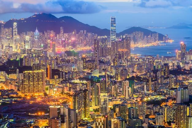 Szene des victoria harbour in hongkong. Kostenlose Fotos