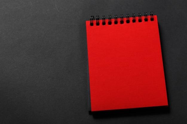 Tagebuch der roten farbe Premium Fotos