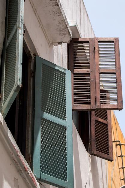 Tanger-architektur von fenstern Premium Fotos