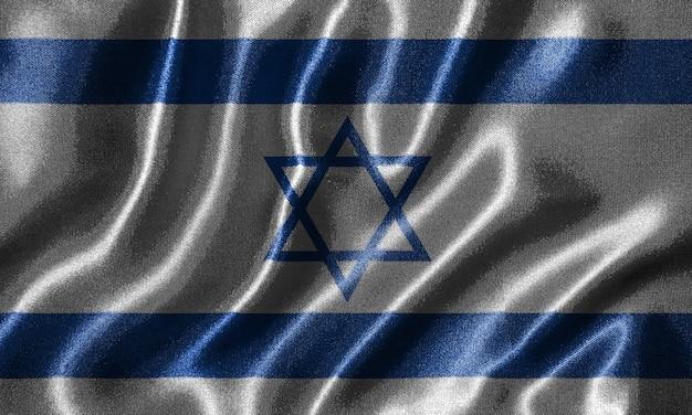 Tapete durch israel-flagge und wellenartig bewegende flagge durch gewebe Premium Fotos