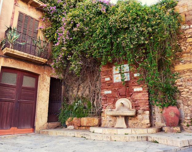 Tarragona alte tarraco-straßen in katalonien Premium Fotos
