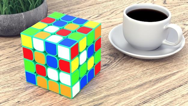Tasse kaffee auf einem holztisch Premium Fotos