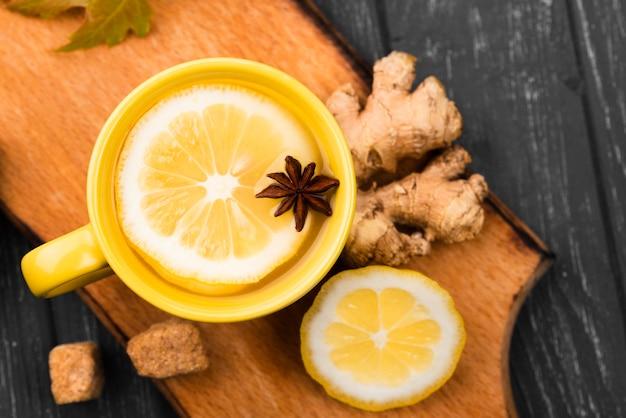 Tasse mit zitronentee-aroma Kostenlose Fotos