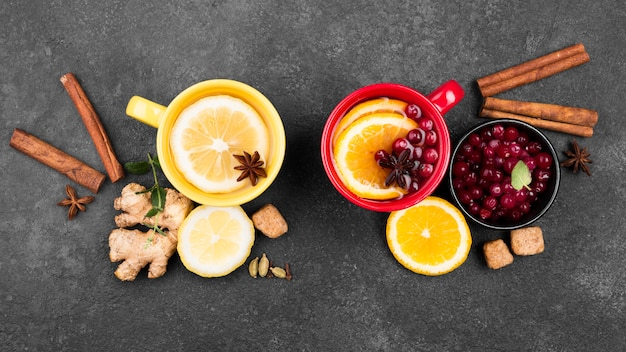 Tassen mit teefruchtaroma Kostenlose Fotos