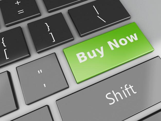 Tastatur 3d mit kauf jetzt knopf Premium Fotos