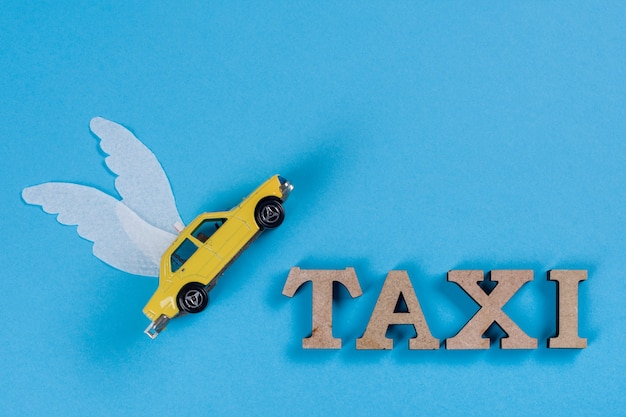Taxi mit flügeln, auto der zukunft. Premium Fotos