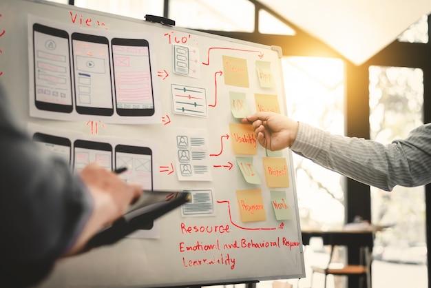 Team von ui ui designer mobile development experience app. Premium Fotos