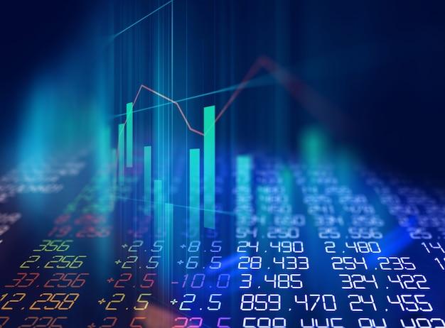 Technisches finanzdiagramm auf abstraktem hintergrund der technologie Premium Fotos