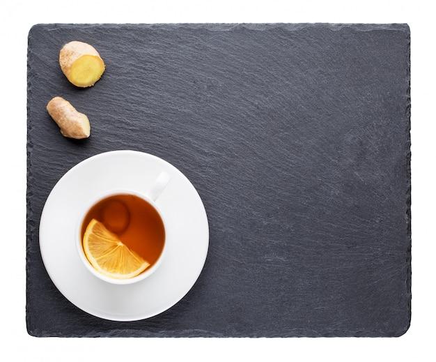 Tee mit der zitrone- und ingwerwurzel Premium Fotos