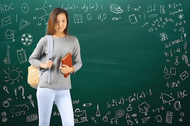 Teen girl school / college / student Premium Fotos