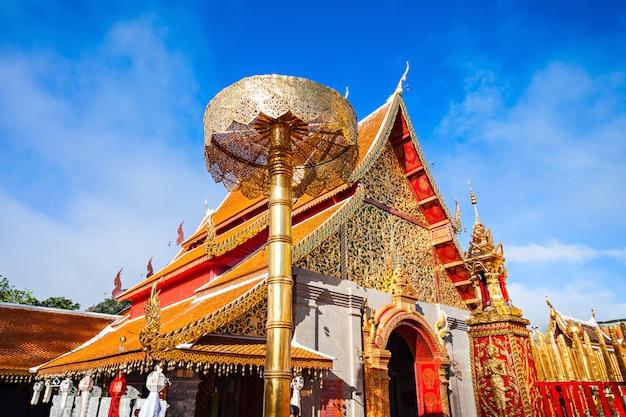 Tempel doi suthep temple in chiang mai in thailand Premium Fotos