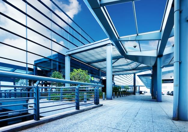 Terminal des flughafens shanghai pudong Premium Fotos