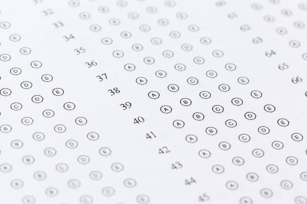 Test score sheet mit antworten Premium Fotos