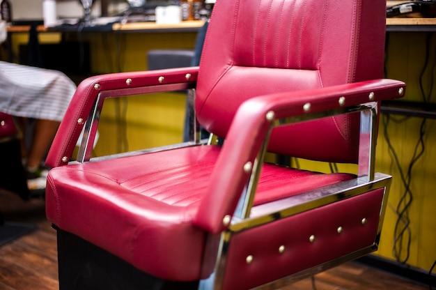 Teurer friseursalonstuhl der nahaufnahme Kostenlose Fotos
